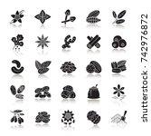 spices drop shadow black glyph... | Shutterstock . vector #742976872