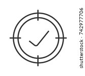 aim on checkmark linear icon....   Shutterstock . vector #742977706