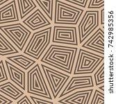 polygonal seamless background.... | Shutterstock .eps vector #742985356