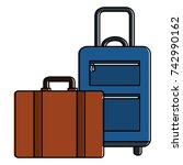 suitcase travel isolated icon | Shutterstock .eps vector #742990162