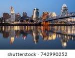 Evening City View Of Cincinnat...