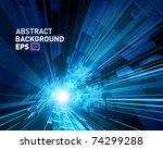 virtual technology vector... | Shutterstock .eps vector #74299288