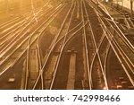 st. peterburg region  mga... | Shutterstock . vector #742998466