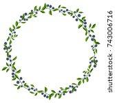 blueberry frame 2 | Shutterstock .eps vector #743006716