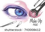 vector hand drawn illustration... | Shutterstock .eps vector #743008612