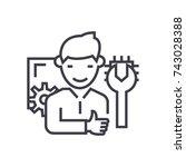 computer technician concept... | Shutterstock .eps vector #743028388
