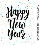 handwritten modern brush... | Shutterstock .eps vector #743036242