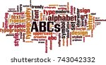 abcs word cloud concept. vector ...