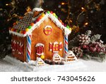 Homemade Gingerbread House Wit...
