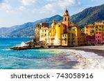 scenic mediterranean riviera... | Shutterstock . vector #743058916