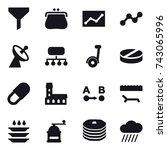 16 vector icon set   funnel ... | Shutterstock .eps vector #743065996