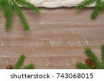 christmas background of... | Shutterstock . vector #743068015