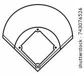 baseball field | Shutterstock .eps vector #743076526