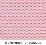 pink background polka dot.... | Shutterstock .eps vector #743080108