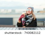 outdoors lifestyle fashion... | Shutterstock . vector #743082112