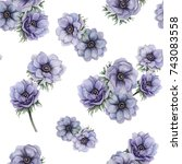 watercolor seamless pattern of... | Shutterstock . vector #743083558