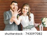 just married | Shutterstock . vector #743097082