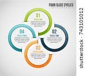 vector illustration of four... | Shutterstock .eps vector #743101012