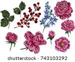 Vintage Floral Set.
