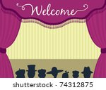 theatre stage with curtains and ... | Shutterstock .eps vector #74312875