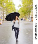 A Girl With A Black Umbrella I...