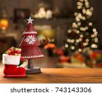 christmas decoration. christmas ... | Shutterstock . vector #743143306