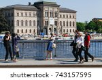 stockholm  sweden   june 6 ... | Shutterstock . vector #743157595