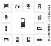 set of 13 editable furniture...