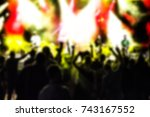 Small photo of pop rock music concert blurred