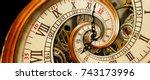 golden yellow antique old clock ...