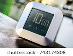 10 minutes   digital chrome... | Shutterstock . vector #743174308