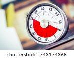 30 minutes   analog kitchen... | Shutterstock . vector #743174368