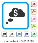 richness dream clouds icon.... | Shutterstock .eps vector #743175832