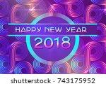 vector happy new year banner... | Shutterstock .eps vector #743175952