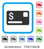 credit card icon. flat gray...