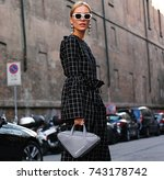 milan  21 september 2017 woman... | Shutterstock . vector #743178742