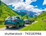 montenegro  prokletije... | Shutterstock . vector #743183986