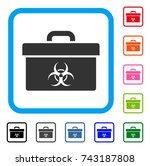 biohazard toolbox icon. flat...