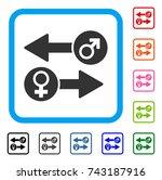 gender exchange icon. flat grey ...