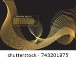 golden line abstract pattern...   Shutterstock .eps vector #743201875