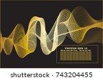 golden line abstract pattern... | Shutterstock .eps vector #743204455