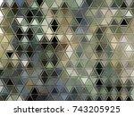 green black rectangle glass... | Shutterstock . vector #743205925