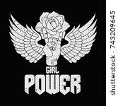rock and roll girl female... | Shutterstock .eps vector #743209645