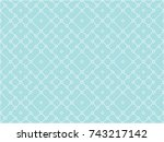 abstract seamless bue and white ... | Shutterstock .eps vector #743217142