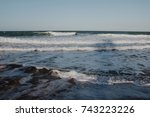 waves and sunset | Shutterstock . vector #743223226