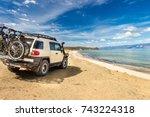 Off Road Car On The Sea Coast