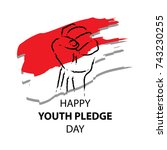 happy youth pledge day | Shutterstock .eps vector #743230255