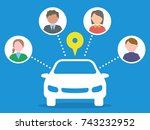 car sharing concept. | Shutterstock .eps vector #743232952
