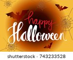 happy halloween | Shutterstock .eps vector #743233528