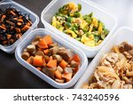 home cooked meal | Shutterstock . vector #743240596